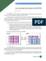 Chap III - Les concepts de base de la POO
