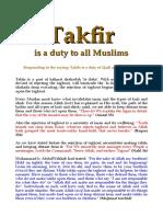 Takfir - A Duty