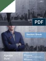 Businessman Cityscape PowerPoint Templates