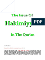 The Issue of Hakimiyyah in the Qur'an