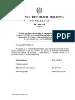 Proiectul de lege pentru modificarea  Legii nr. 216/2003 cu privire la Sistemul informațional integral  automatizat de evidenţă a infracţiunilor, a cauzelor penale  şi a persoanelor care au săvârşit infracţiuni