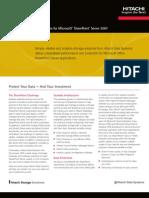 Htitachi Datasheet Solutions for Microsoft Share Point Server 2007