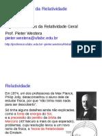 Teoria da Relatividade Geral e assuntos afins