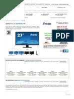 iiyama ProLite E2783QSU-B1 (E2783QSU-B1) _ achat _ vente Ecran pour PC sur PC21.FR