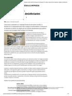 Productos químicos desinfectantes _ web oficial de Empresa & Limpieza, la revista nacional de la limpieza e higiene profesional_