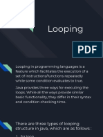 Java Looping Structures