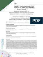 INVENTARIAÇÃO E RELEVÂNCIA DOS SÍTIOSGEOPATRIMONIAIS DA SERRA DO LENHEIRO –MINAS GERAIS (2018)