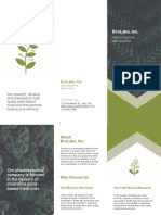 Green and White Plants Science Brochure