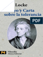 J. Locke - Ensayo y Carta Sobre La Tolerancia.