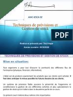 Techniques de prévision et Gestion de stock + CORRECTION  2019.pptx