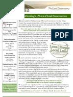 Jan-Feb 2009 Landlines Newsletter ~ Land Conservancy of San Luis Obispo County