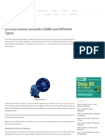 Artificial Neural Networks (ANN) and their Types