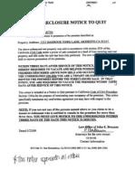 Foreclosure Notice to Quit