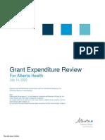 ARCHES safe consumption site grant expenditure report