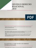El individuo Derecho internacional Público