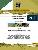 13.3. ESTUDIO DE FUENTES DE AGUA