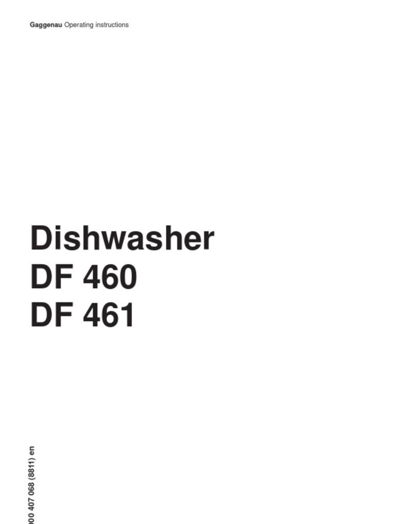 dishwasher gaggenau df460161 dishwasher ac power plugs and sockets rh scribd com gaggenau dishwasher installation manual LG Dishwasher