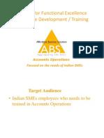 A Typical Finance Module Training Presentation
