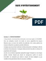 Thème 2 politique financière