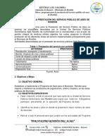 Anexo 4 Programa para la prestacion de servicio publico de aseo Rondón