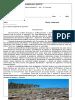 Ciências 5° ano - desmatamento