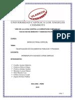 FALSIFICACIÓN DE DOCUMENTOS PÚBLICOS Y PRIVADOS - N