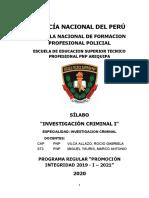 SILABO INVESTIGACION CRIMINAL I PROMOCION INTEGRIDAD.docx