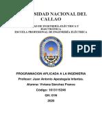 EJERCICIOS DE PROGRAMACION APLICADA A LA INGENIERIA