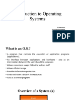 Lecture 1 - Introduction to Operating Systems