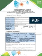 Guía de actividades y rubrica de evaluación-Tarea 5-Desarrollar matriz de análisis de artículos científicos en temas agrarios y ambientales (1)