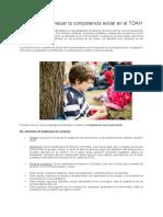 Pruebas para evaluar la competencia social en el TDAH