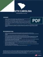 White House Coronavirus Task Force Report on South Carolina, June 14