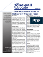 Stonewall Democrats of Dallas Newsletter - January 2011