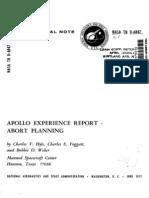 Apollo Experience Report Abort Planning