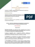 TALLER 07.  FUNDAMENTOS  APRENDIZAJE Y LA ENSEÑANZA EN EL CONTEXTO DE LA FPI