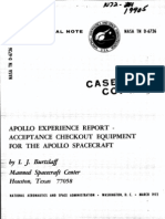 Apollo Experience Report Acceptance Checkout Equipment for the Apollo Spacecraft