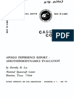 Apollo Experience Report Aerothermodynamics Evaluation