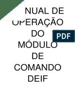 Manual de Operação DCFE