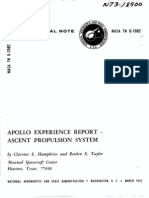 Apollo Experience Report Ascent Propulsion System