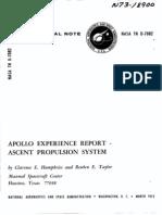 Apollo Experience Report Ascent Propulsion System