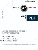 Apollo Experience Report Battery Subsystem