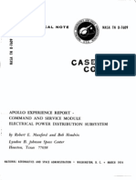 Apollo Experience Report Command and Service Module Electrical Power Distribution Subsystem