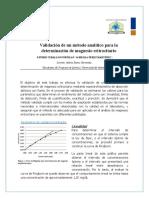 Revisión Artículo - Parametros de calidad para los métodos analíticos