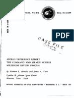 Apollo Experience Report Command and Service Module Milestone Review Process