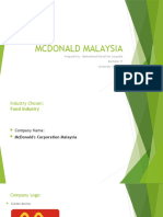 Project Slide - Mcdonald Malaysia