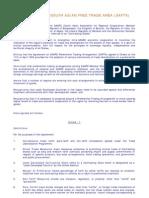 SAFTA Agreement
