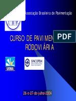 CURSO DE PAVIMENTAÇÃO RODOVIÁRIA(AULA)1