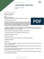 Ley de Reforma Tributaria, publicada en el R.O. 325 de 14 de Mayo de 2001