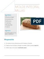 Pan de molde Integral con semillas