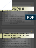 Impact of Computers in Various Sectors of Our Society